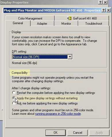 display dialog box