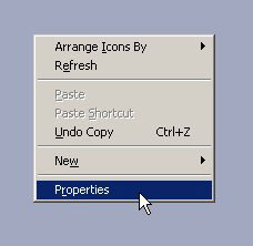 properties dialog box